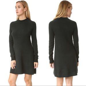 Theory Janayla Cashmere Black Neck Sweater Dress M
